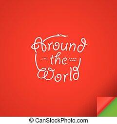 Around the world concept .Design template