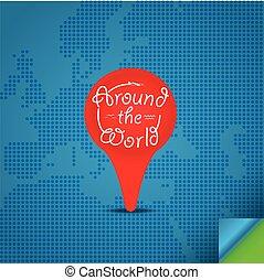 Around the world concept. Design template