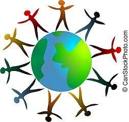 Around the World - standing together