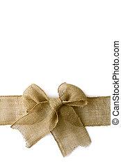 arpillera, arounf, arco, plano de fondo, envuelto, navidad blanca