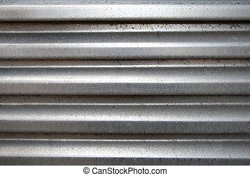 arqueado, alumínio, superfície
