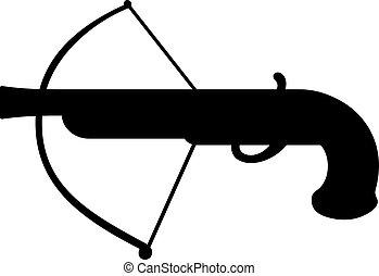Arquebus hook gun icon