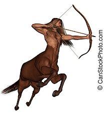 arqueiro, -, sagittarius, galloping
