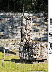 arqueológico, parque, en, copan, ruinas