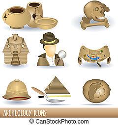 arqueologia, ícones