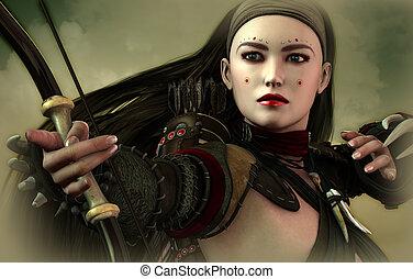 arquero, criada