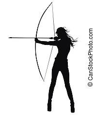 arquero, deportes, tiro al arco