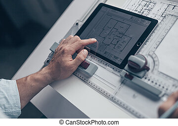 arquitecto, dibujo