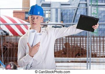 arquitecto, en el trabajo