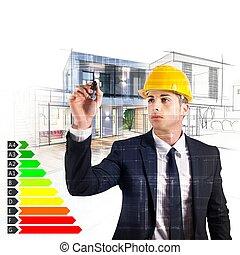 arquitecto, energía, certificación