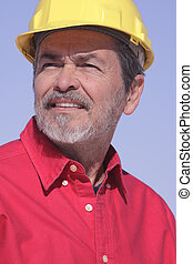 arquitecto, sombrero duro, contratista
