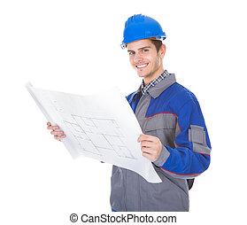 arquitecto, tenencia, cianotipo