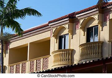 arquitectura, amarillo, floridian