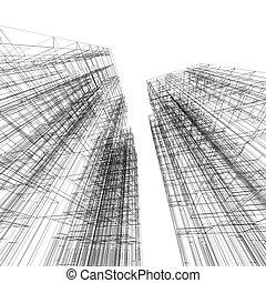 arquitectura, cianotipo