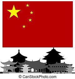 arquitectura, de, china