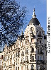 arquitectura, de, madrid, ciudad, españa