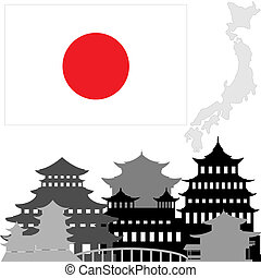 arquitectura, en, japón