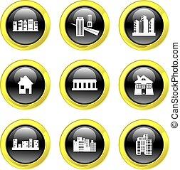 arquitectura, iconos