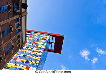 arquitectura moderna, en, düsseldorf
