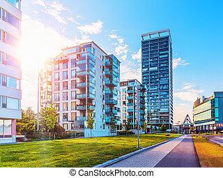arquitectura moderna, en, helsinki, finlandia