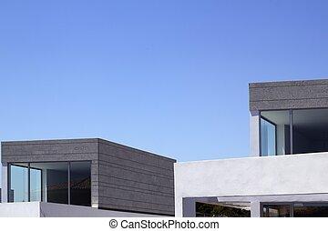 arquitectura, moderno, casas, cosecha, detalles