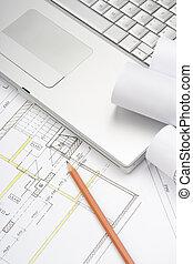 arquitectura, planos