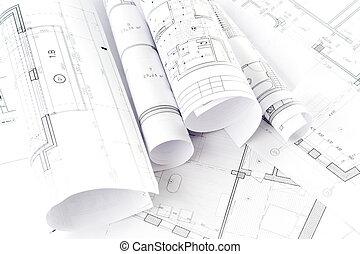 arquitetônico, projeto