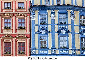 arquitetura, coloridos, Praga