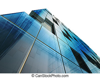 arquitetura, conceito, branca, isolado