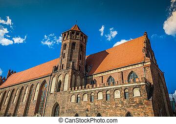 arquitetura, de, cidade velha, em, gdansk