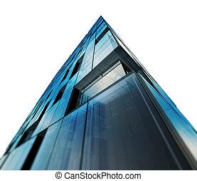 arquitetura moderna, branca, isolado