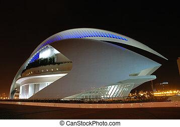 arquitetura moderna, cidade, de, artes, e, a, ciências, em, valence, espanha