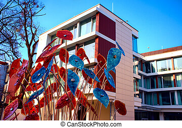 arquitetura moderna, em, wroclaw, polônia