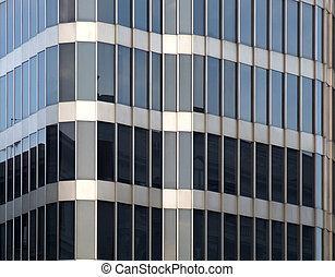 arquitetura moderna, vidro, detalhe