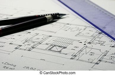 arquitetura, planos