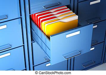arquive gabinete, e, pasta
