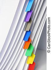 arquivo, com, etiquetas