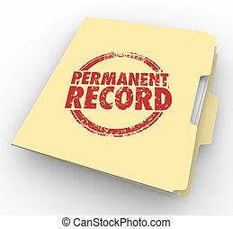 arquivo, ilustração, registro, permanente, fundo, pasta, criminal, cheque, 3d