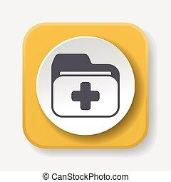 arquivo médico, ícone