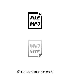 arquivo mp3, apartamento, ícone