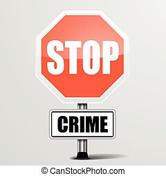 arrêt, crime
