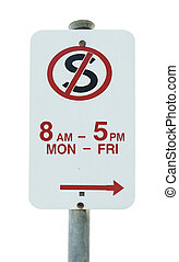 arrêt, non, panneau de signalisation