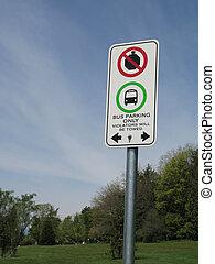 arrêt, non, signe