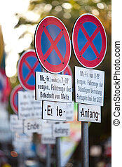 arrêt, non, signes