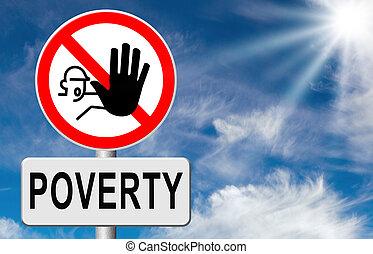 arrêt, pauvreté