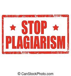 arrêt, plagiarism-stamp