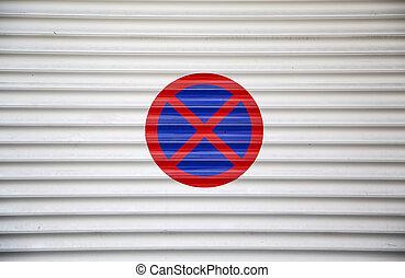 arrêt, signe, stationnement interdit
