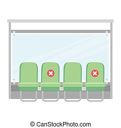 arrêt, urbain, transport commun, autobus