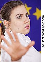 arrêter geste