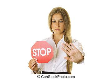 arrêter geste, signe